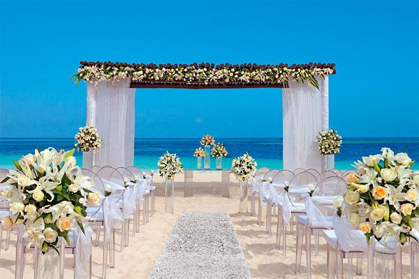 Beachside Wedding At Secrets Capri Riviera Mexico Destination And Honeymoon Pinterest Flower Arrangements Destinations