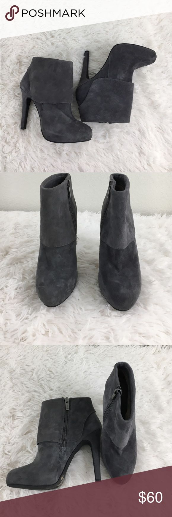 NEW Gray Suede Jessica Simpson Booties NEW Gray Suede Jessica Simpson Ankle Boots with side zipper. Jessica Simpson Shoes Heeled Boots
