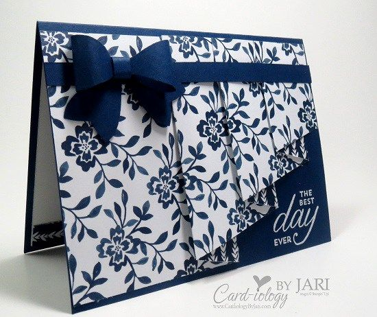 Love this Drapery Fold Card by Jari Francis