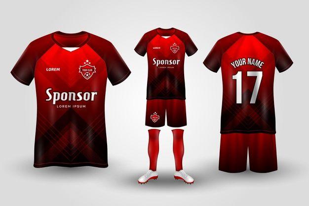 Download Soccer Jersey Sport Shirt Or Football Kit Uniform Presentation Template T Shirt Design Software Sports Jersey Design Sports Tshirt Designs