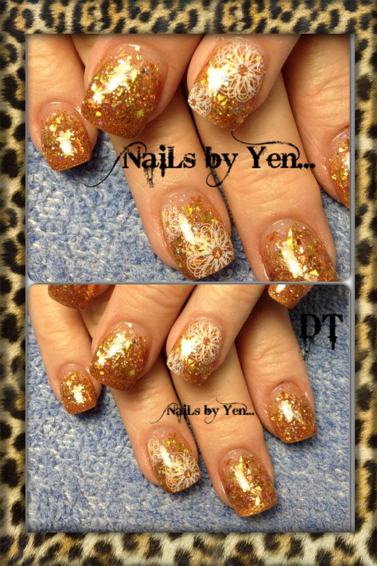 Chunky Glitter Nails by