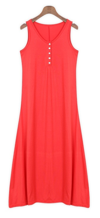 Casual dress with button