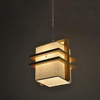Κρεμαστά+Φωτιστικά+,++Μοντέρνο/Σύγχρονο+Ξύλο+Χαρακτηριστικό+for+LED+Ξύλο/μπαμπούΣαλόνι+Υπνοδωμάτιο+Τραπεζαρία+Κουζίνα+Δωμάτειο+–+EUR+€+52.68