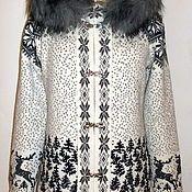 Купить или заказать пальто вязаное с капюшоном в интернет-магазине на Ярмарке Мастеров. Пальто с капюшоном, связано на вязальной машине.Связано с качественной шерсти.Вяжу пальто как женские так и детские любых размеров,в любой цветовой гамме,по желанию…