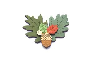 Image of Autumn Leaves Brooch