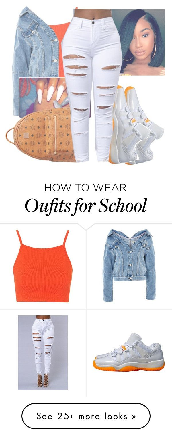 """""""CONTEST"""" by littydee on Polyvore featuring Topshop, MCM and NIKE"""