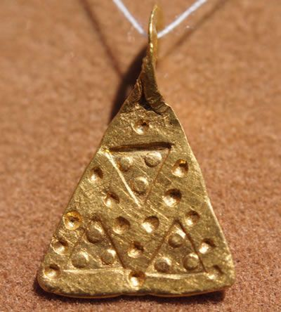 Ancient Viking Scandinavian Gold Axe Amulet/Pendant Circa 11th Century