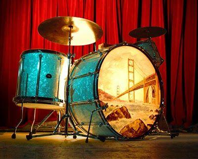 Cool painted drum head