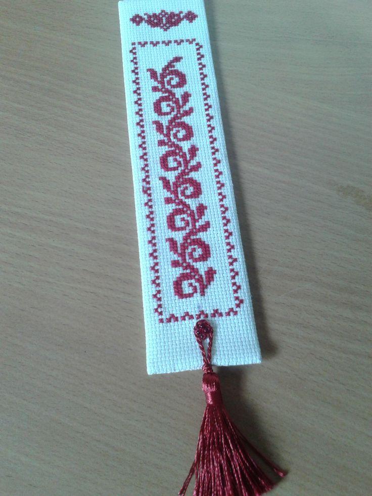 Zakładka z chwościkiem.  A bookmark with a tassel.