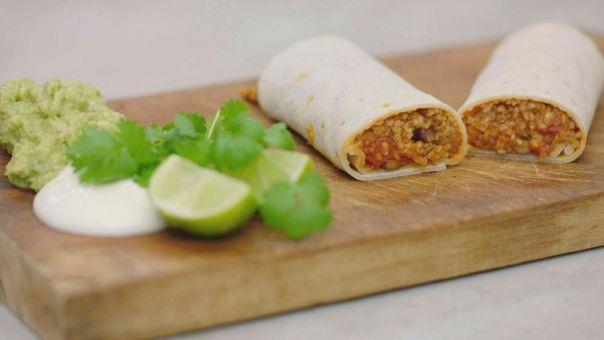 Vegetarische bulgur burrito - dagelijkse kost - Jeroen Meus - Vegetarian bulgur burrito