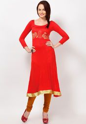 Accentuate your ethnic look wearing this red coloured kurta from the house of Ira Soleil. Tailored in a regular fit and made from viscose, this kurta is light in weight, soft against the skin and will keep you at ease all day long. This beautifully designed kurta is an ideal pick for special family functions.