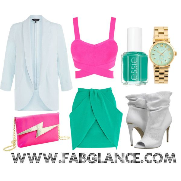 """#OOTD: Miami Vice"" by fabglance on Polyvore"