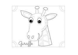 disegno giraffa