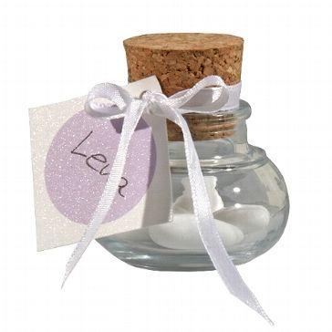 Korkenglas für Gastgeschenke - Bonboniere für feine Hochzeitsmandeln - weddix