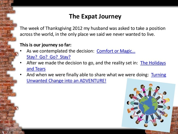 The Expat Journey...