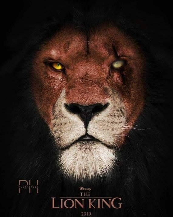 Scar Poster Of The Lion King Movie 2019 Lion King Movie