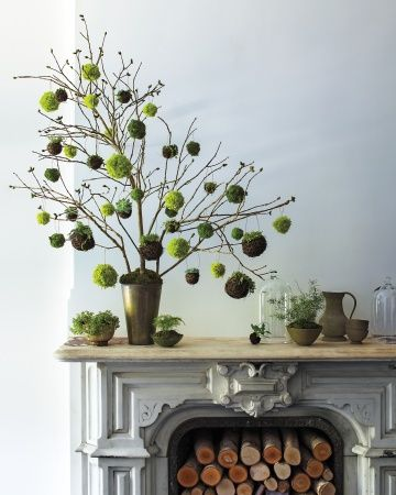 I love this tree!  It would be great for a March decoration! From Martha Stewart Living, December 2013