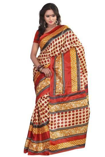LadyIndia.com # Party Wear Saris, Gorgeous Polka Dots Printed Saree For Women, Designer Sarees, Party Wear Saris, https://ladyindia.com/collections/ethnic-wear/products/gorgeous-polka-dots-printed-saree-for-women