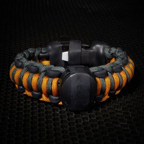 Adventure Paracord Survival Bracelet - 16 different components that can provide you with the tools you need for navigation, fire starting, cutting, fishing, snaring, gear repair, auditory and visual signaling, daytime and night time signaling, and more.