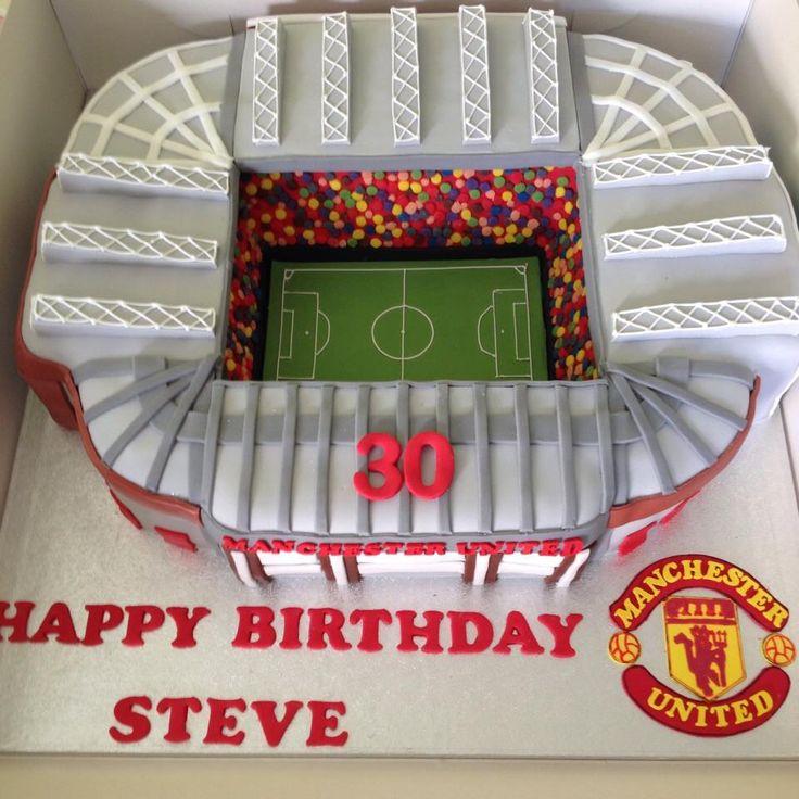 Manchester Utd stadium cake  www.buddyshomebakery.co.uk