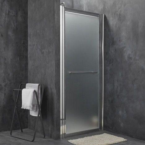 Porte de douche pivotante breuer palerme verre de for Porte douche pivotant