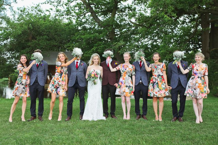 """Personalised wedding bouquets from Pink Peony. For more Alternative Wedding inspiration, check out the No Ordinary Wedding article """"20 Quirky Alternatives to the Traditional Wedding""""  http://www.noordinarywedding.com/inspiration/20-quirky-alternatives-traditional-wedding-part-2"""