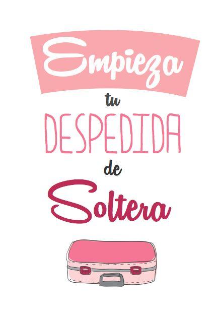 Tarjeta para despedida de Soltera