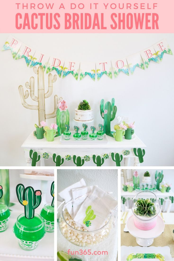 throw a gorgeous cactus themed bridal shower like michelle from michelles party plan it she will give you all the tips and tricks you need to pull off a