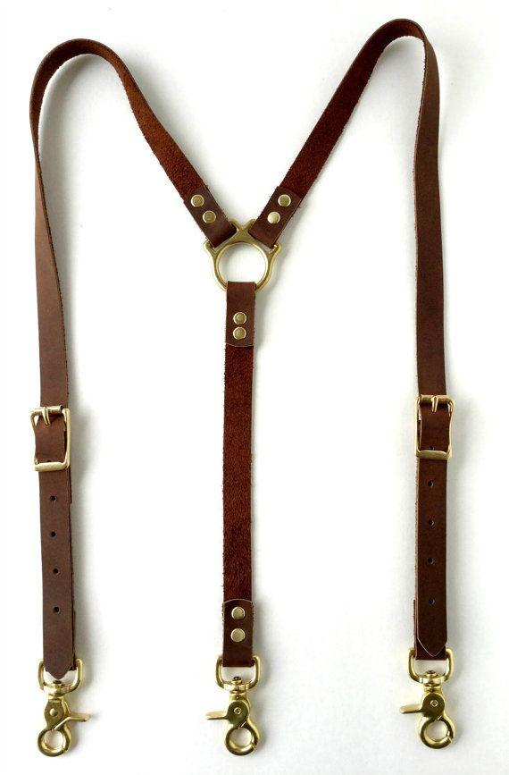 Men's Leather Suspenders by RustiCartel on Etsy
