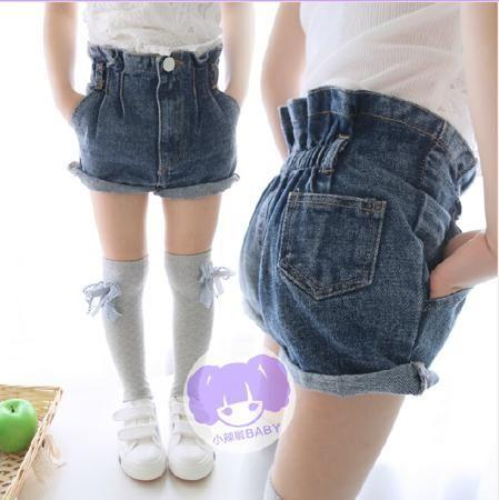 2015 году летняя Детская одежда Детская Джинсовая джинсы шорты девочек в горячие брюки  — 391.25р.