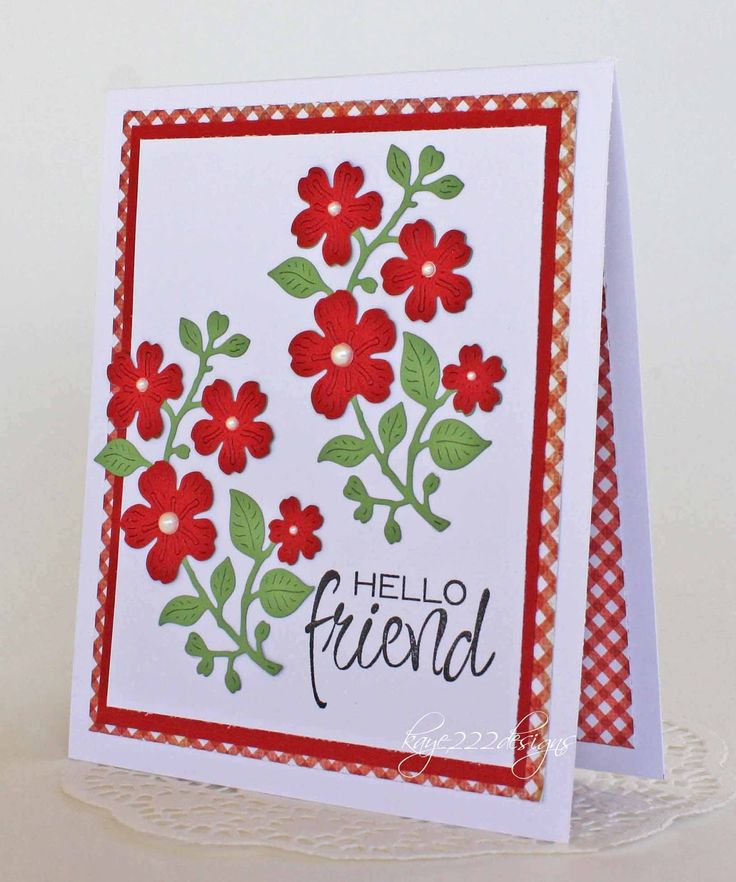Friendship Card Making Ideas Part - 17: Handmade Card By Lisa Using The Hello Friend Plain Jane From Verve.  #vervestamps