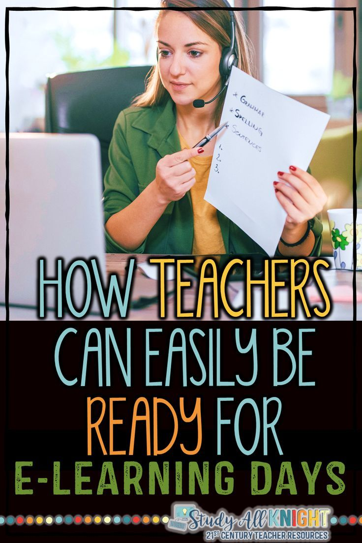 How Teachers Can Easily Be Ready For E Learning Days Study All Knight In 2020 Online Learning Online Teaching Digital Learning