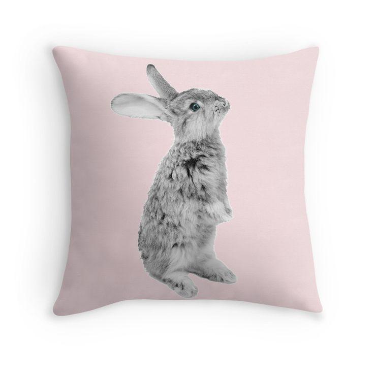 Rabbit 08 Pillow, Easter Decoration, Nursery decor, Baby girl Pillow, Bunny Pillow