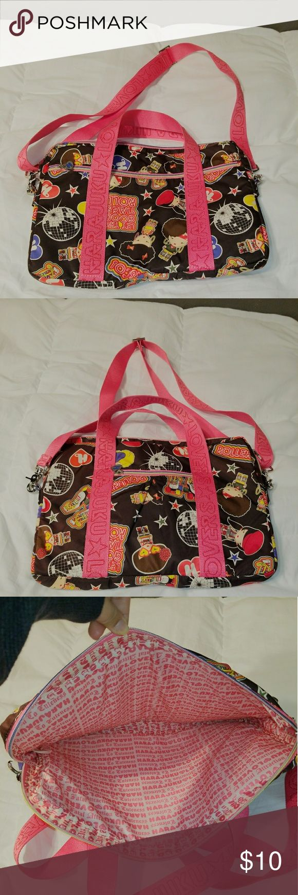 HARAJUKU Lovers Laptop carrying bag Black and pink Harajuku Lovers Laptop bag Harajuku Lovers Bags Laptop Bags