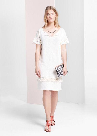 Vestido recto borlas | VIOLETA BY MANGO