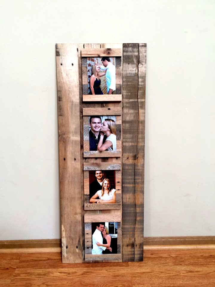 handcrafted pallet picture display