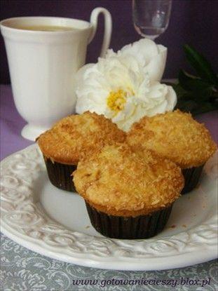 Muffinki z krówkami i kokosem - Gotuję, bo lubię