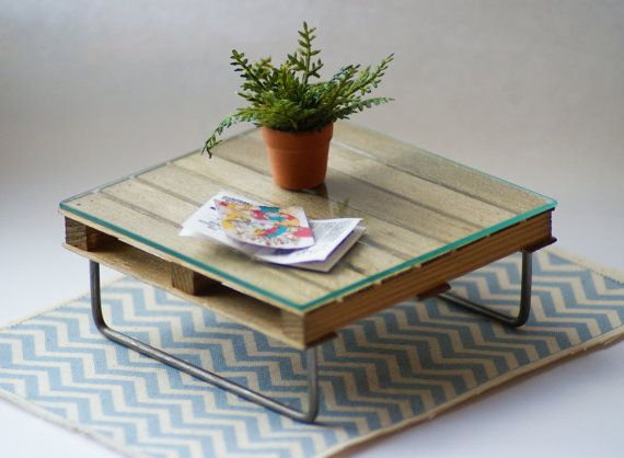 Upcycled Pallet Coffee Table 12th Scale by Artistique on Etsy, £46.00