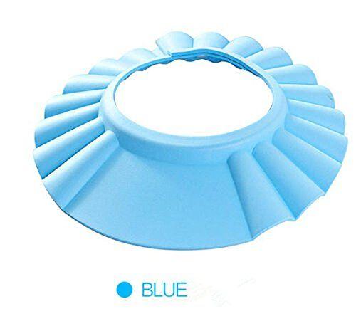 MUMENG Einstellbare Baby Duschhaube Kinderprodukte Baby Dusche Kappe Blau