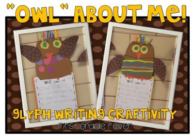 "I love this ""Owl"" about me glyph and writing activity!"