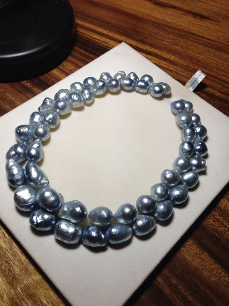 In stock, Baroque silver south sea pearls double strand! natural and gorgeous.. contact us for inquiry at info@lombokpearlfarm.com  #southseapearl #baroquepearl #baroquesouthseapearl #pearl #pearls