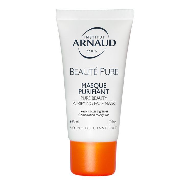 Le Masque Purifiant Pure Beauté d'Institut Arnaud désincruste les pores et régule l'excès de sébum. Idéal pour les peaux mixtes à grasses en quête de clarté.