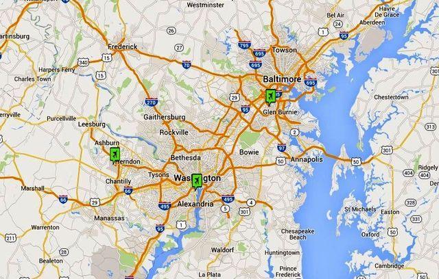 Washington DC Airport Maps, Directions & Transportation: Washington DC Airports: Maps, Directions and Transportation