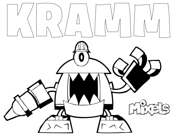 lego mixels coloring pages - mixel coloring page kramm lego mixels pinterest