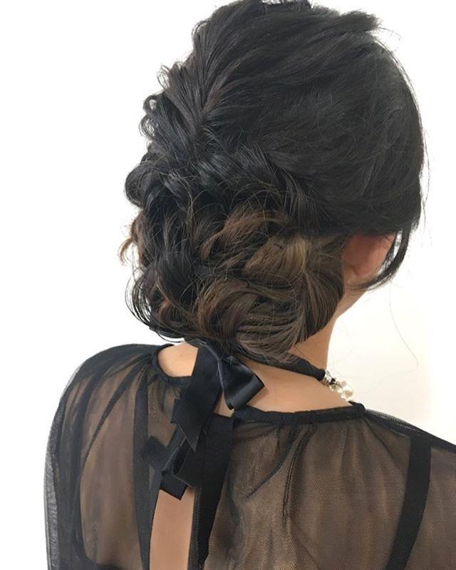 お呼ばれ結婚式アレンジ グラデーションがいい感じ #美容室 #creer_for_hair #鹿児島 #鹿児島美容室 #鴨池 #beauty #fashion #hairarrange #ヘアアレンジ #撮影モデル募集 #サロンモデル募集