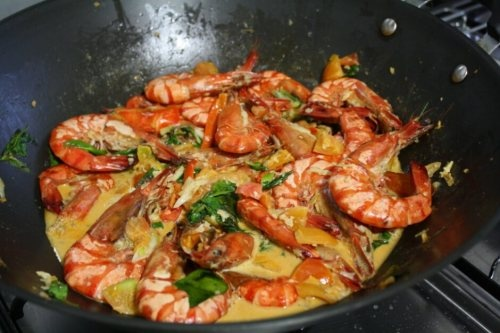 Coconut and Tomato Basil Shrimp