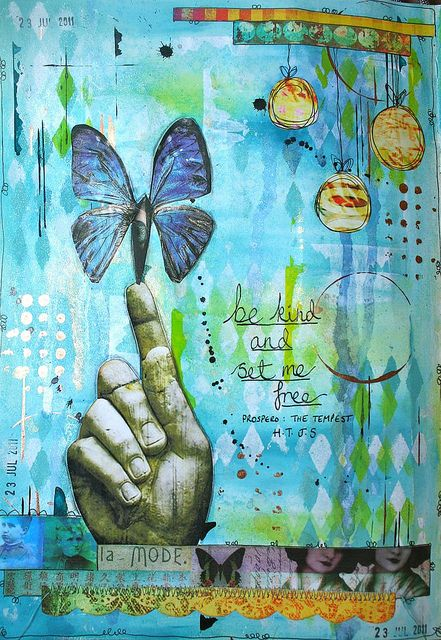 Art journal - set me free by thekathrynwheel, via Flickr