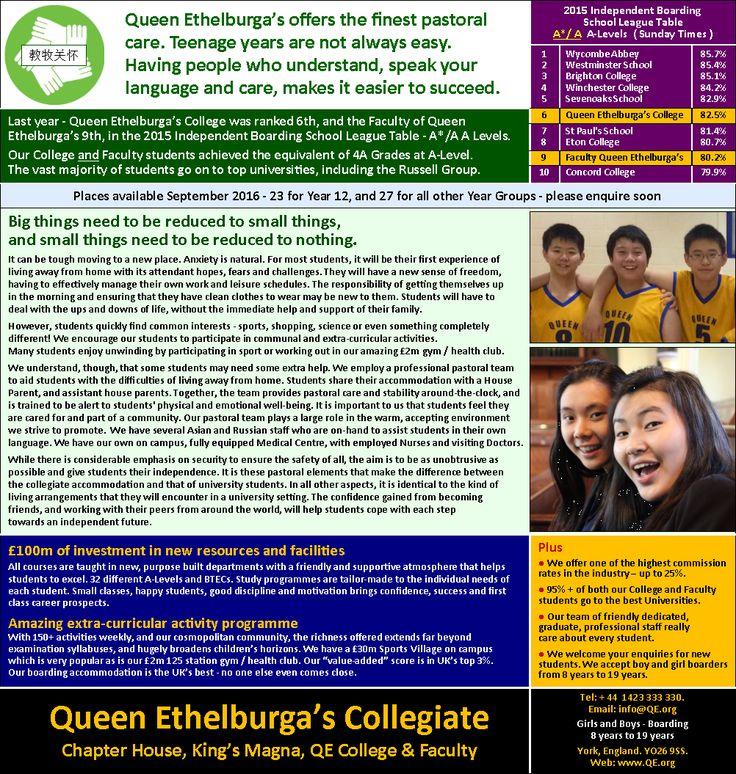 congratulations for Queen Ethelburga's College! #ukboarding