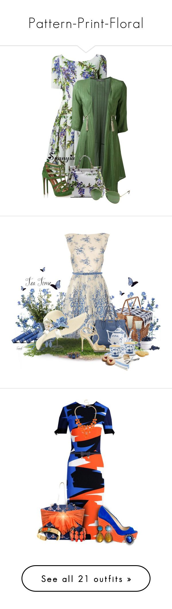 """""""Pattern-Print-Floral"""" by sunnyia ❤ liked on Polyvore featuring Dolce&Gabbana, Zeus+Dione, Alaïa, Lauren Conrad, Alice + Olivia, Miu Miu, Lauren Ralph Lauren, Reger by Janet Reger, Jimmy Choo and HTC"""