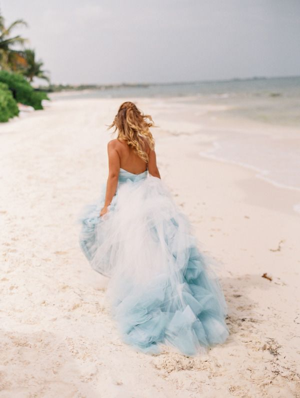 Gorgeous Blue Ombre Wedding Dress Http Www Stylemepretty